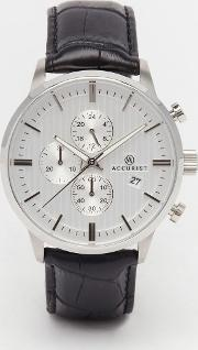 Accurist , Chronograph Black Stainless Steel Watch