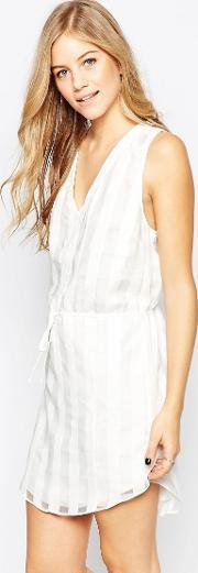Adelyn Rae , White On  Checked Tie Waist Dress