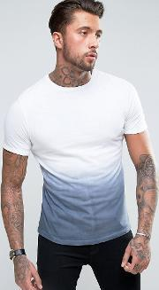 Another Influence , Ombre Fade Out  Shirt Blue
