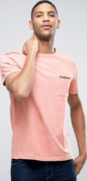 Another Influence , Tape Edge Pocket  Shirt Pink
