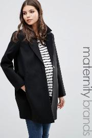 Asos Maternity , Ultimate Cocoon Coat Black