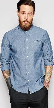 Bethnals , Vic Grandad Shirt Blue