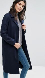 Brave Soul , Long Coat Dark Navy