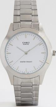 Casio , Silver Stainless Steel Strap Watch Mtp1128a 7a