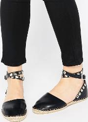 Cute To The Core , Mandy Ankle Strap Espadrilles Black