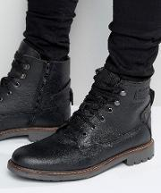 Firetrap , Lace Up Military Boots Black