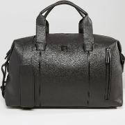 French Connection , Leather Look Weekender Bag Black