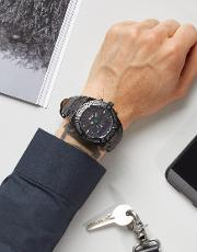 Guess , Connect C0001g5 Leather Smart Watch 45mm Black