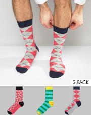 Happy Socks , Hs By 3 Pack Multi