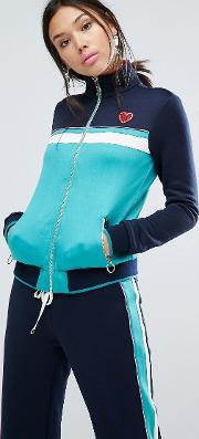 Juicy Couture , Colourblock Track Jacket Regal Blue