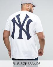 Majestic , Plus New York Yankees Longline T Shirt White