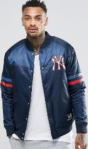 Majestic , Yankees Satin Jacket Navy