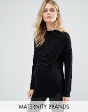 Mamalicious , Long Sleeve Knitted Jumper Black