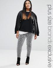 One Day Plus , Metallic Legging Silver