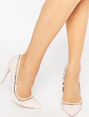 Asos , Phrase Pointed High Heels Pink