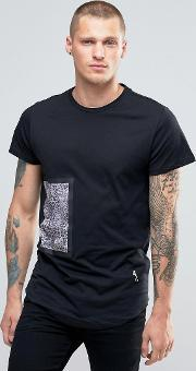 Religion , T Shirt With Bonded Animal Print Patch Black