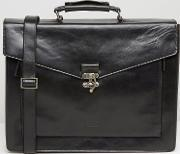 Royal Republiq , Conductor Leather Satchel Black