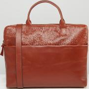 Royal Republiq , Courier Single Leather Satchel Cognac Brown
