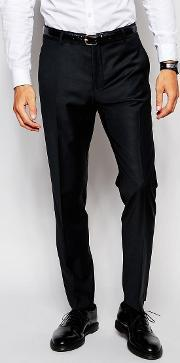 Selected Homme , Travel Suit Trousers With Stretch In Slim Fit Black