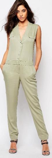 Supertrash , Wensando Jumpsuit In New Army Green