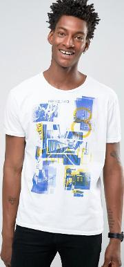 United Colors Of Benetton , T Shirt With Graphic Print White 903