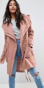 Asos , Waterfall Parka Pink