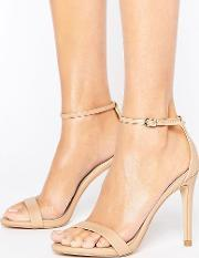 Steve Madden , Stecy Nude Barely There Sandals Natural