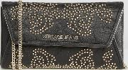 Versace , Jeans Baroque Style Studded Purse Cross Body Bag Nero