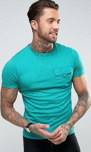 Another Influence , Utility Pocket  Shirt Teal