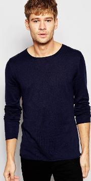 Selected Homme , Lightweight Knitted Jumper Navy