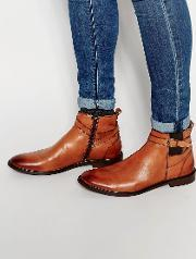 Dune , Buckle Boot In Tan Leather
