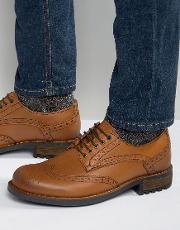 Front , Brogues In Leather Tan