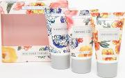 Beauty Extras , Vintage & Co Patterns  Petals Mini Hand Cream Trio 3 X 30ml