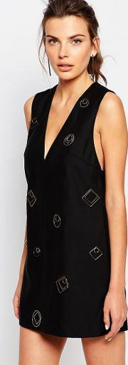 Cmeo Collective , C/meo Collective Shift Dress With Hardware Black
