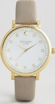Kate Spade , New York Grey Leather Monterey Watch