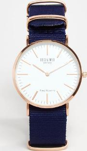 Reclaimed Vintage , Canvas Watch In Blue