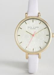 Daisy Dixon , Gold Phoebe Leather Watch