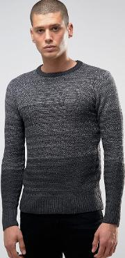 Another Influence , Panel Knit Jumper Grey