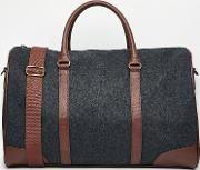 Asos , Holdall In Charcoal Melton