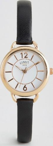 Limit , Black Leather Watch 6214.37 61