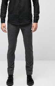 Rogues Of London , Skinny Smart Trousers Charcoal