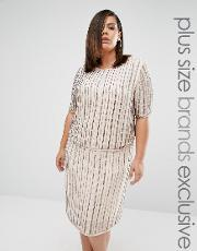 Truly You , Embellished Boxy Top Co Ord Grey