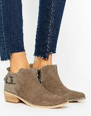Ravel , Western Buckle Boot Taupe Suede