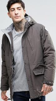 Fat Moose , Innercity Parka Brushed Cotton Lined Anthracite