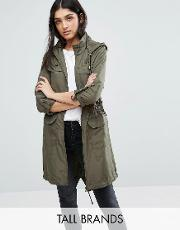 Brave Soul Tall , Festival Military Mac Khaki