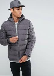 Threadbare , Hooded Quilted Jacket Navy