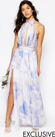 Fame And Partners , River Maxi Dress In Pastel Print  Dreamer