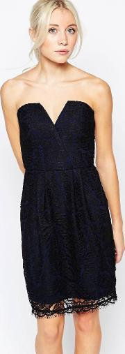 Adelyn Rae , Strapless Lace Dress