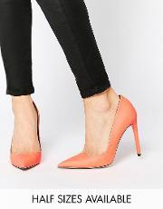Asos , Platinum Pointed High Heels Peach