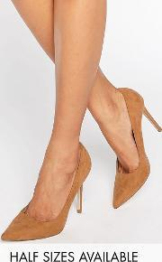 Asos , Peru Pointed High Heels Butterscotch